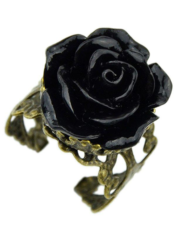 Best Valentine Day Gothic Style Rose Shape Ring