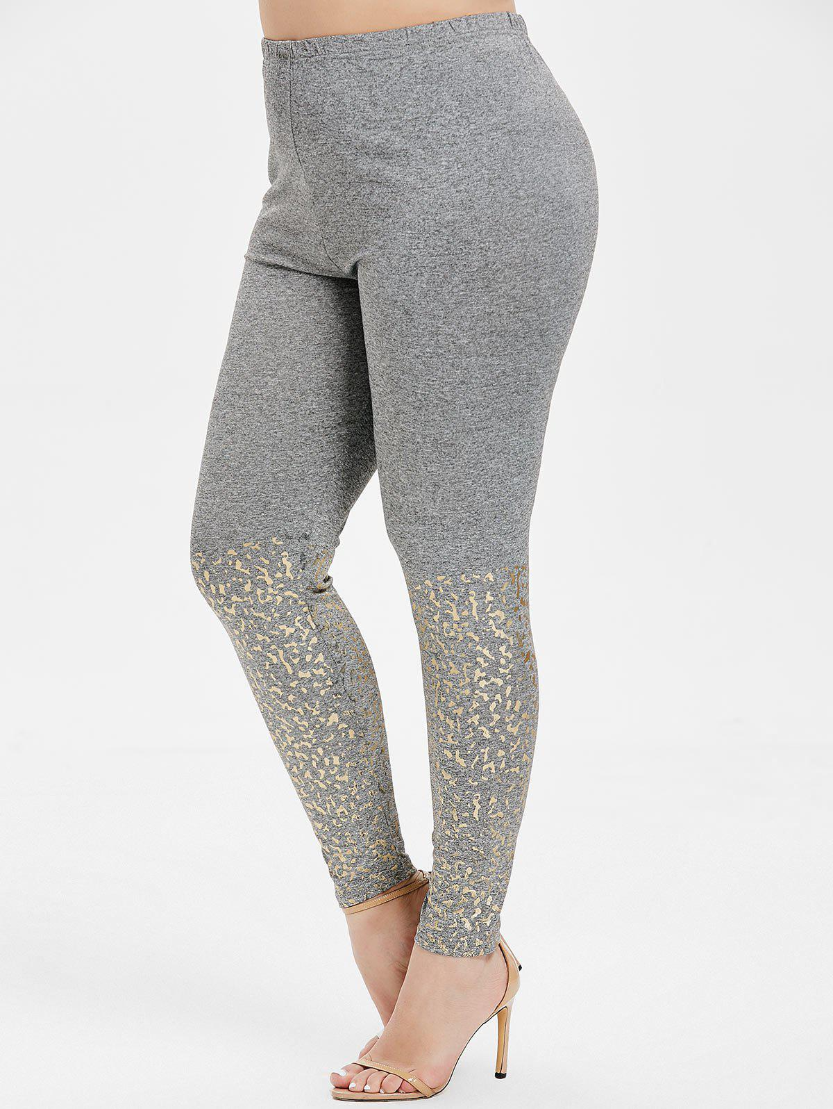 Fancy High Rise Skinny Plus Size Leggings