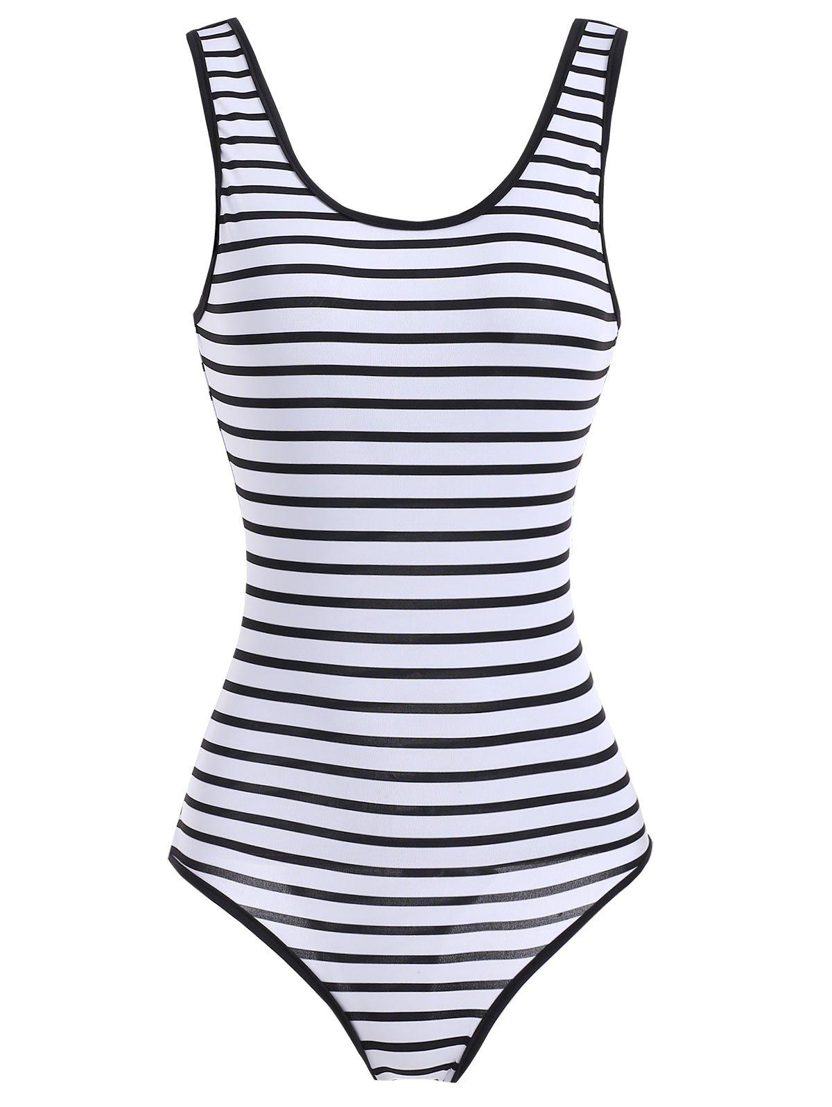 75fa4d2247 42% OFF   2019 Scoop Neck Striped Swimwear