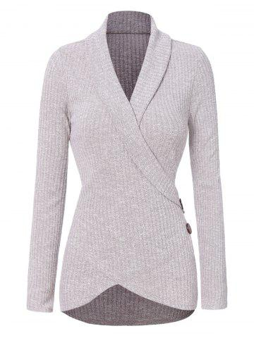 Button Asymmetrical Sweater