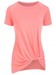 Knotted Short Sleeve Round Neck Tee -