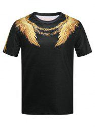 Short Sleeve Wings Print T-shirt -