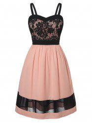 Plus Size Fit And Flare Lace Panel Dress -