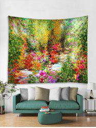 Flower Path Printing Wall Decorative Hanging Tapestry -