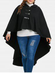 Plus Size Halloween Hooded High Low Coat -