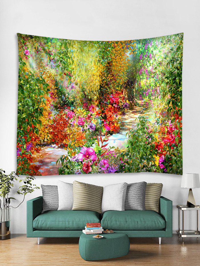 Shop Flower Path Printing Wall Decorative Hanging Tapestry