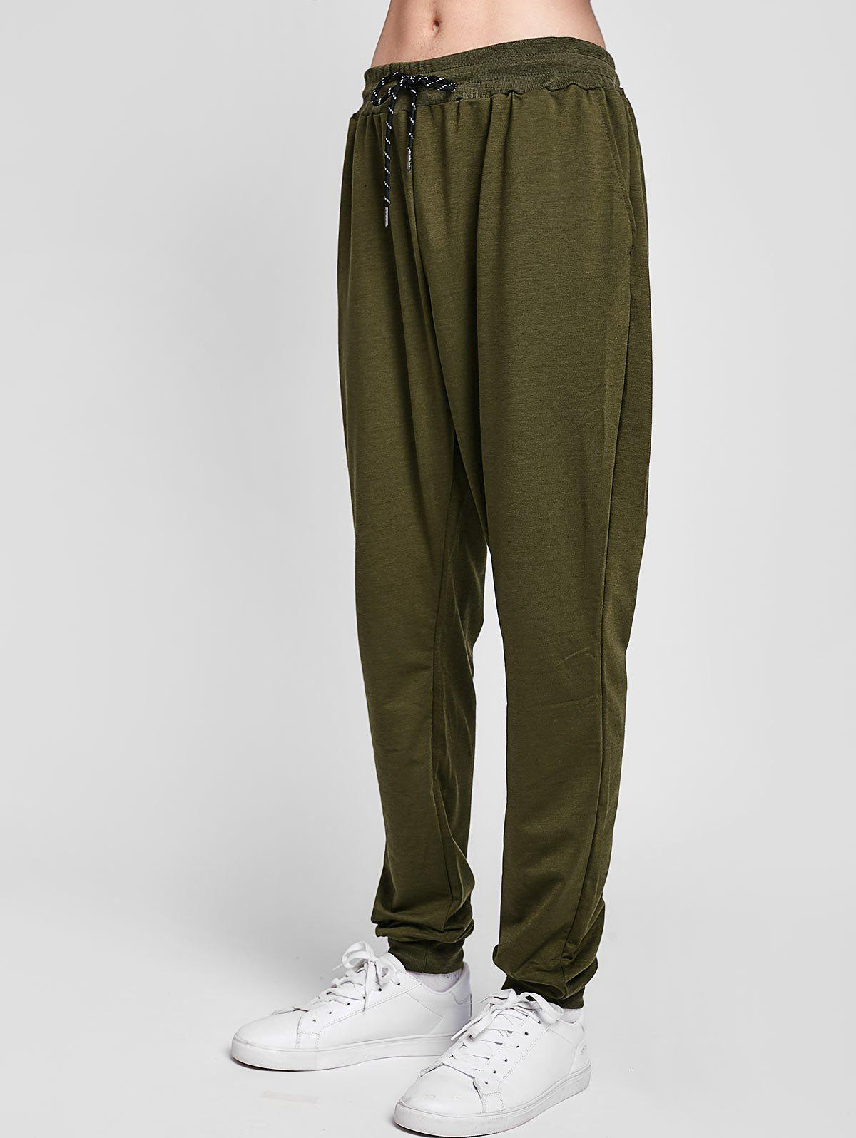 Outfits Solid Lateral Pockets Sports Jogger Pants