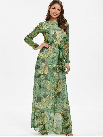 Tropical Print Bohemian Maxi Dress