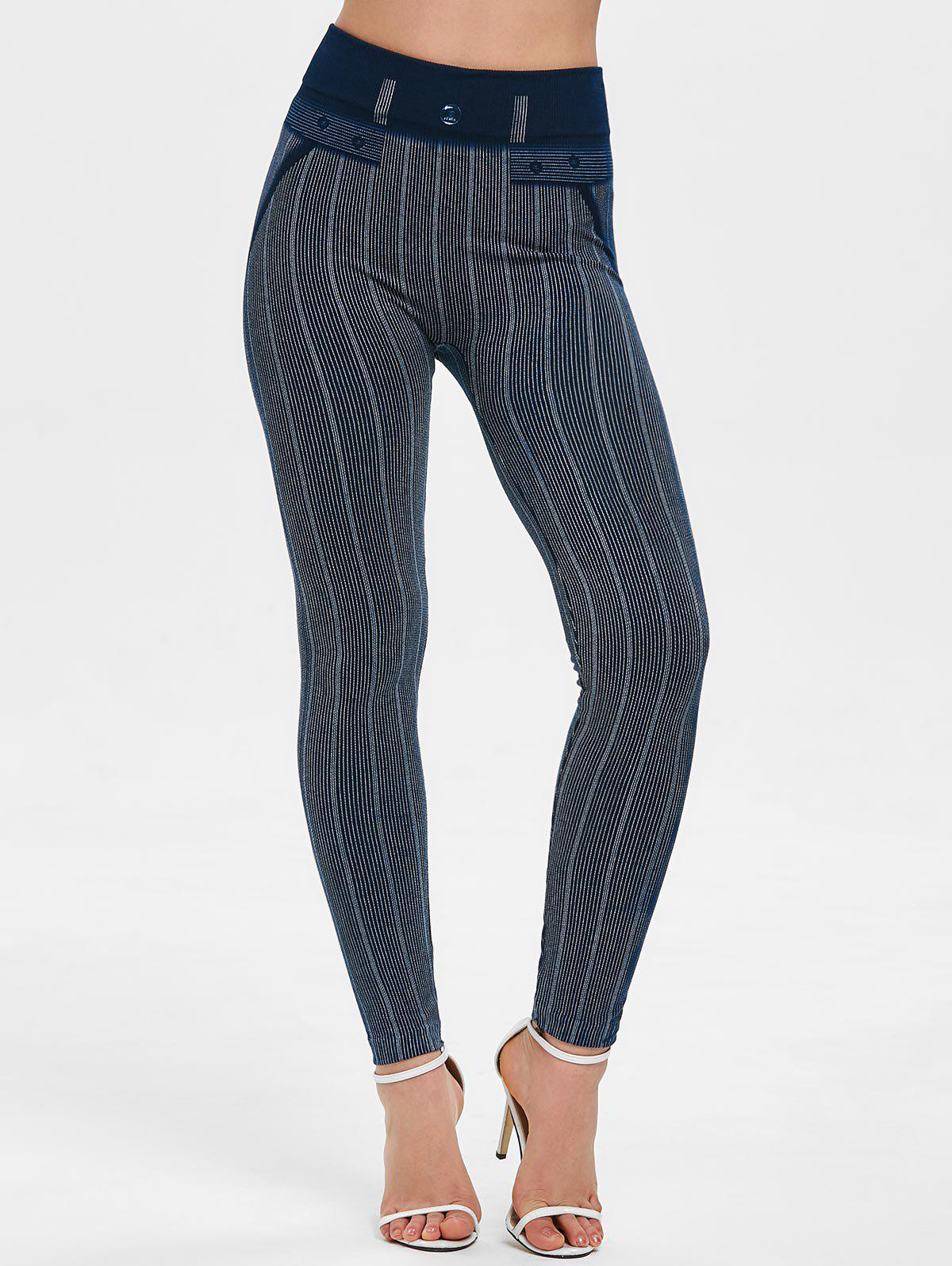 Shop Striped High Waist Skinny Pants