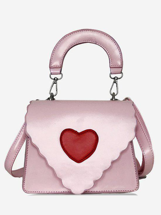 Chic Valentine Heart Pattern Crossbody Bag