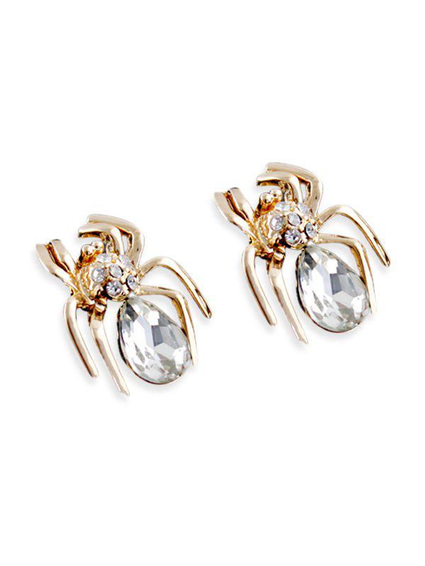New Spider Stud Earrings with Faux Crystal
