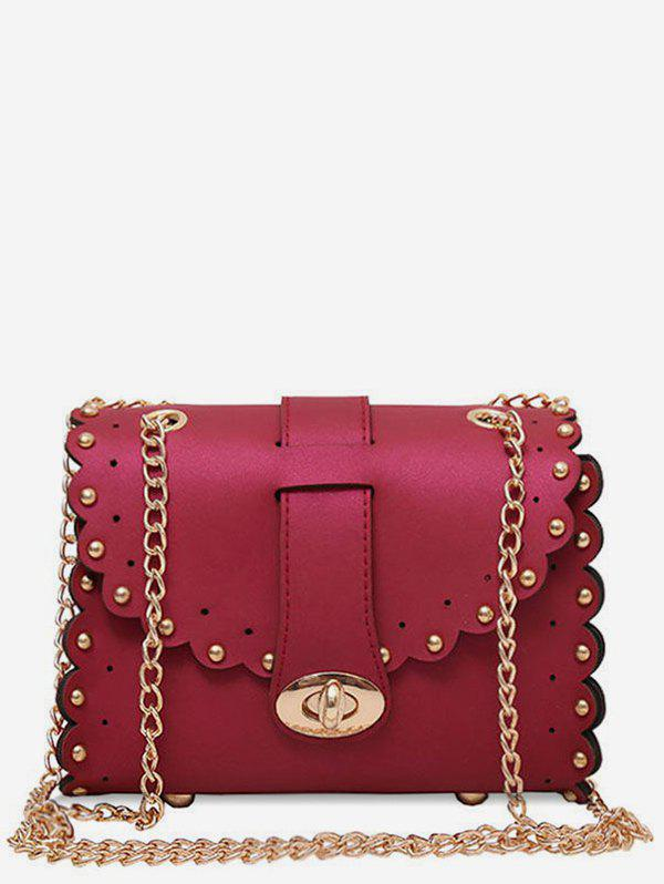 75a4e9c03b52 2019 Hasp Chain Crossbody Bag With Faux Pearl