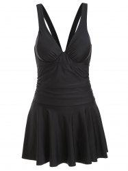 Cross Back Skirted Underwire Swimsuit -