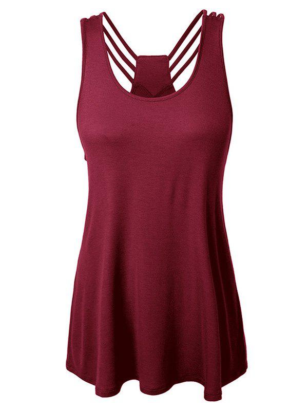 Plus Size Strappy Racerback Tank Top