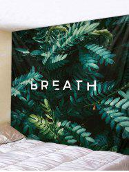 Plant Leaves Letters Print Wall Art Tapestry -
