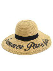 Summer Foldable Straw Woven Hat -