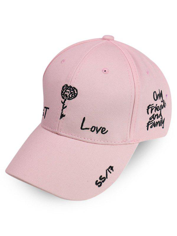 Best Embroidery Letter Flower Rose Baseball Cap