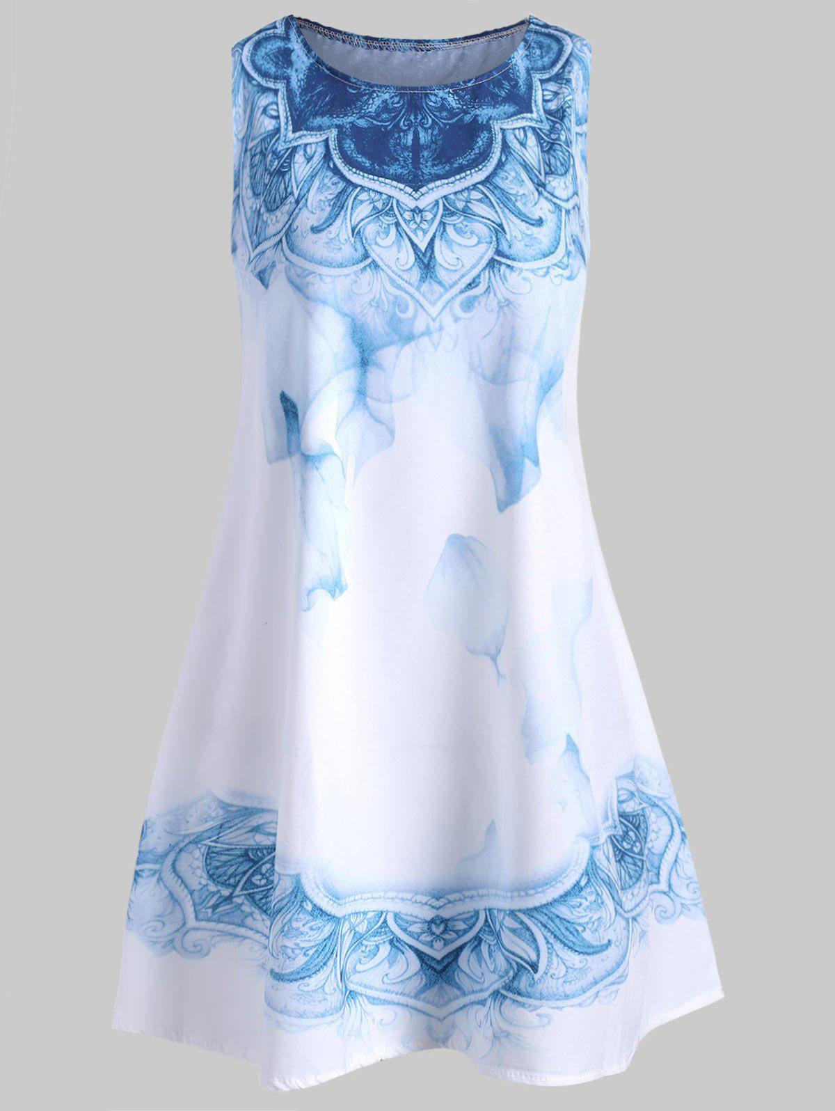 Best Mini Sleeveless Printed Dress