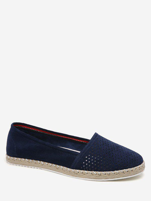Buy Vintage Slip On Small Holes Suede Flats