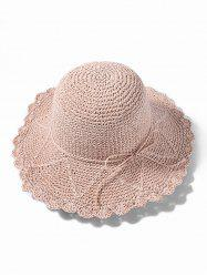 Summer Straw Knitted Sun Hat -
