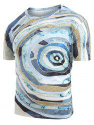 Round Geometric Graphic Print T-Shirt -