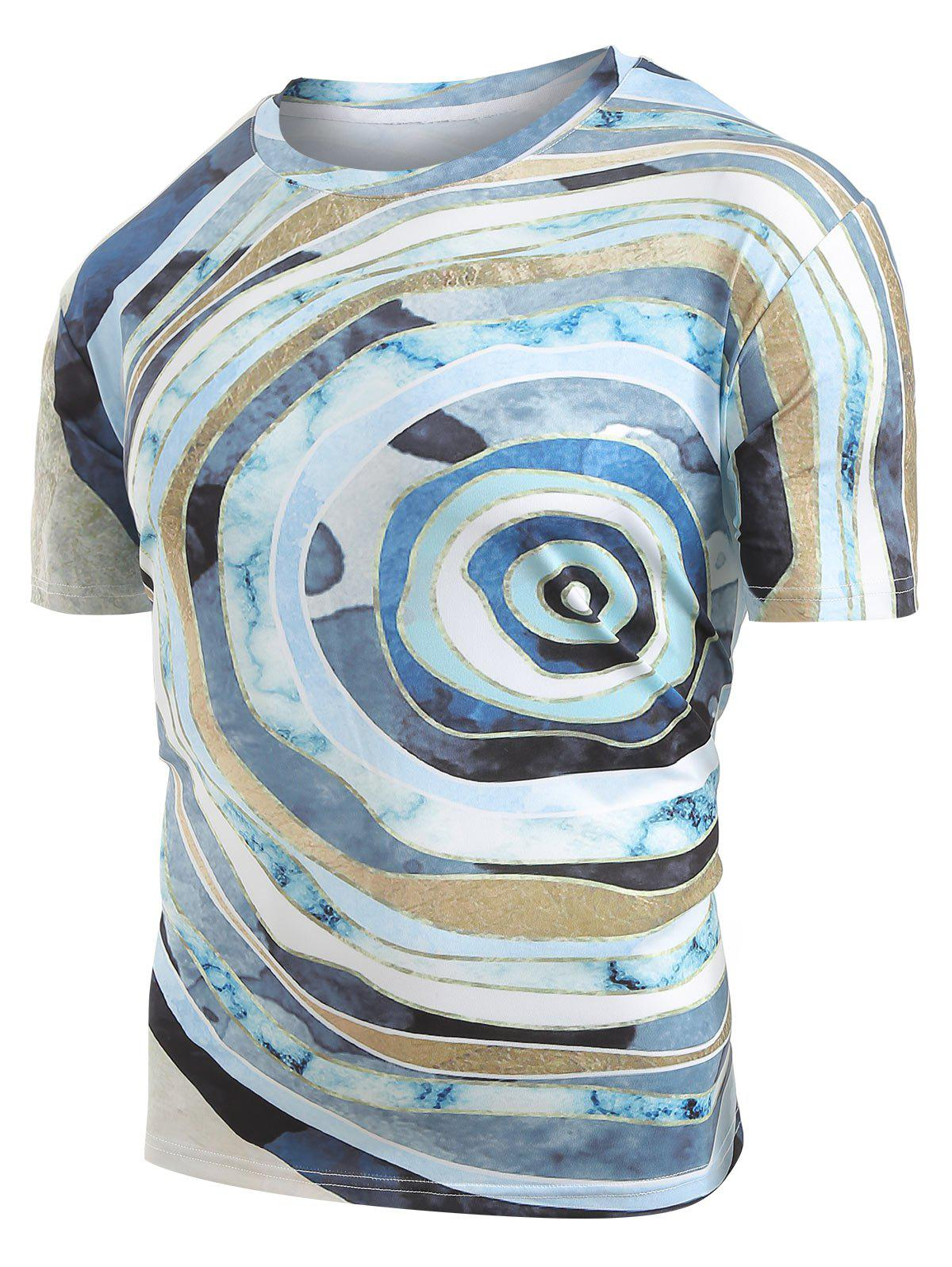 Shops Round Geometric Graphic Print T-Shirt