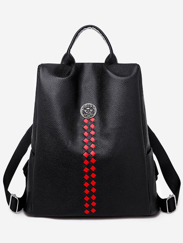 Outfit Geometric Detail Top Handle Backpack