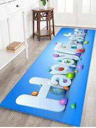 Square Happy Easter Pattern Living Room Rug -
