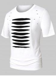 Ripped Short Sleeve Casual Tee -