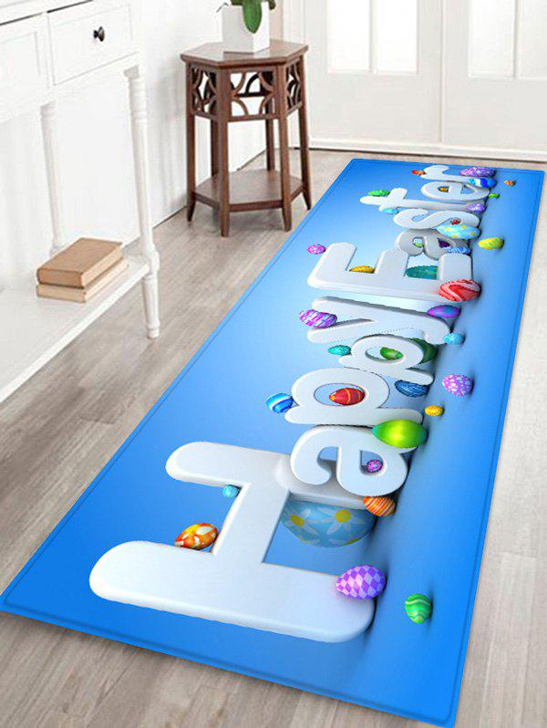 Trendy Square Happy Easter Pattern Living Room Rug