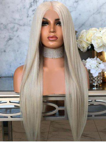 Middle Parting Straight Long Wig Synthetic