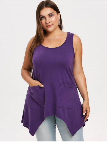 Plus Size Asymmetrical Top with Pockets