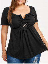 Plus Size Ruched Empire Waist T-shirt -
