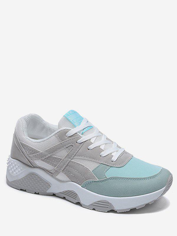 Store Contrasted Lace Up Athletic Sneakers