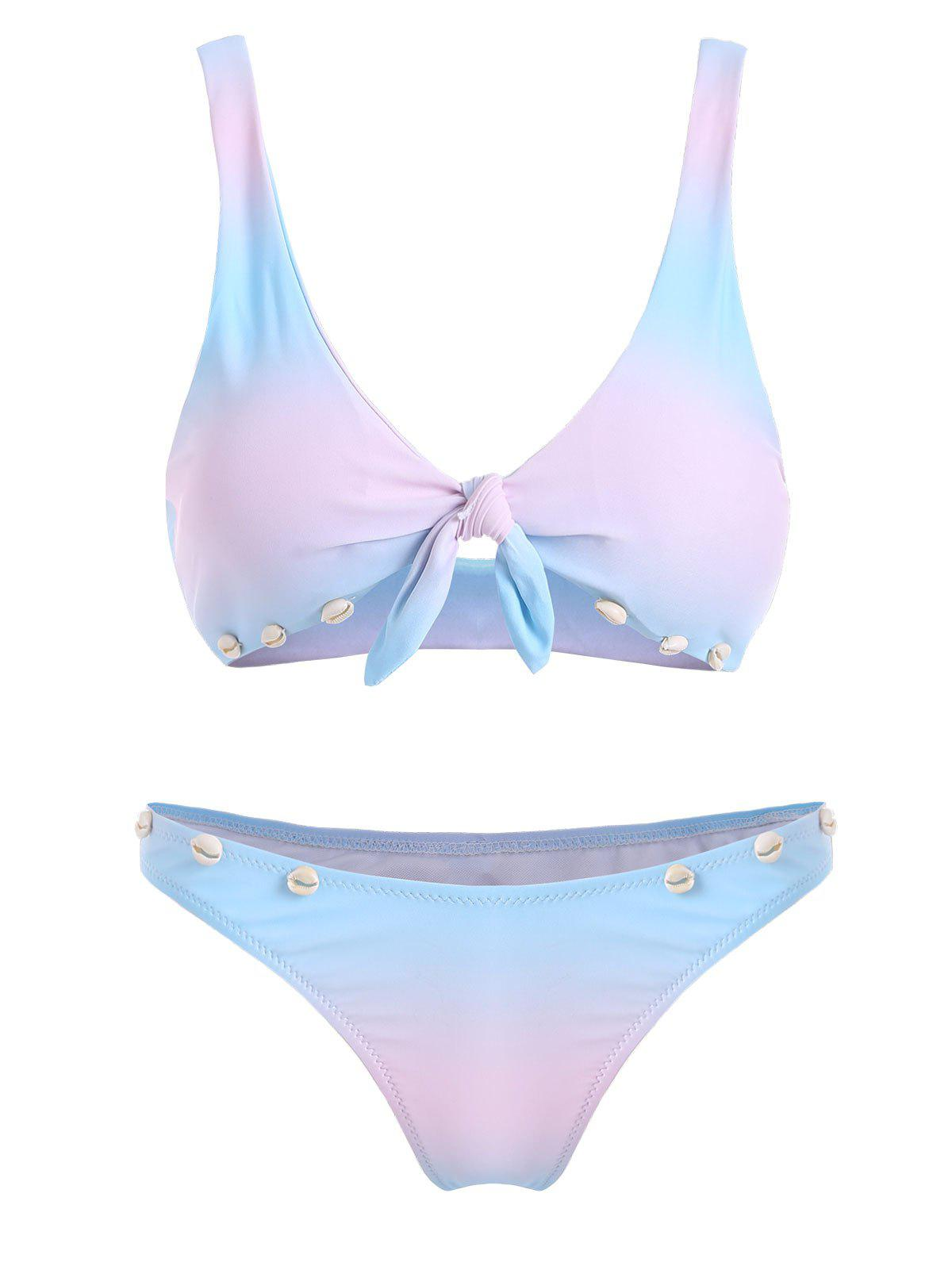 Buy Plunge Ombre Color Shell Bikini Set