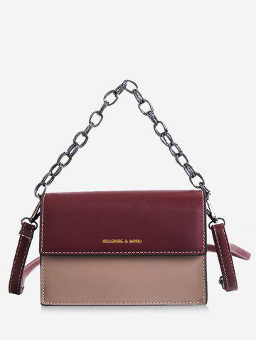 c681ccba9d82 2019 Pu Leather Letter Print Flap Shoulder Bag