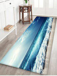 Sky Beach Pattern Print Floor Mat -