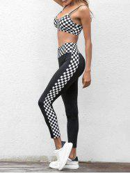 Sports Checkered Bra And Pants Set -