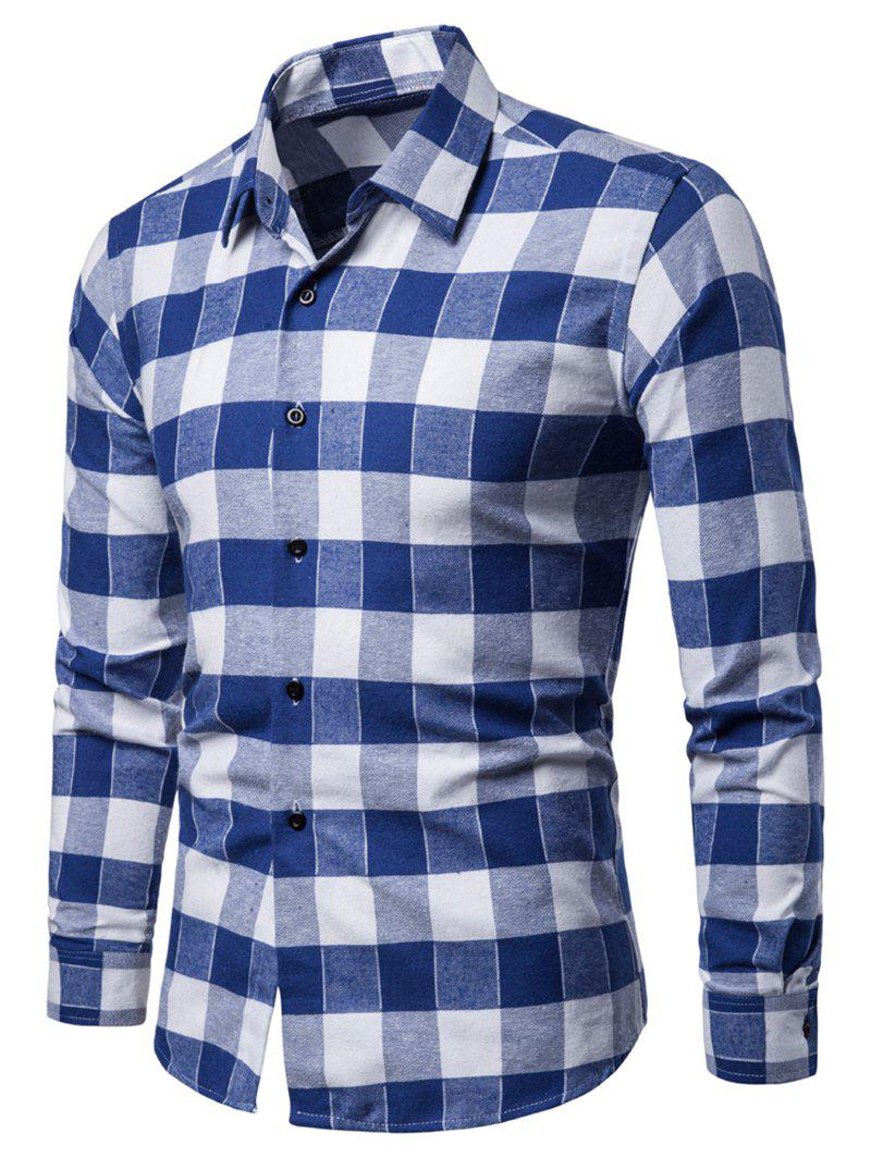 Image of Tartan Style Casual Long Sleeves Shirt