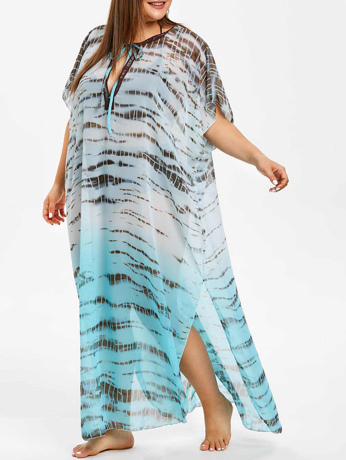 c3818ff3098c7 Ombre Plus Size See Through Cover Up - One Size. rosegal