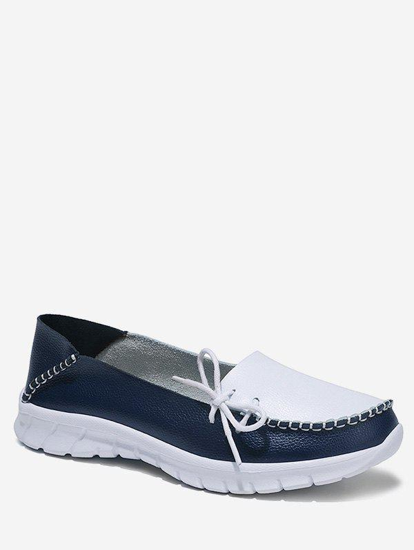 Best Side Bow Two Tone Loafer Shoes
