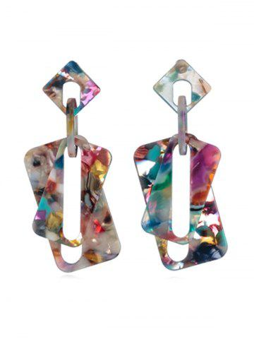 Retro Leopard Pattern Acrylic Dangle Earrings d4dd92d65f0d