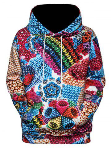 Multi Magnetic Balls 3D Print Pullover Hoodie