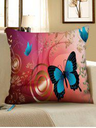 Print Butterfly Square Sofa Pillowcase -
