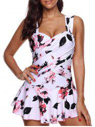 Floral Print Underwire Skirted Swimsuit -