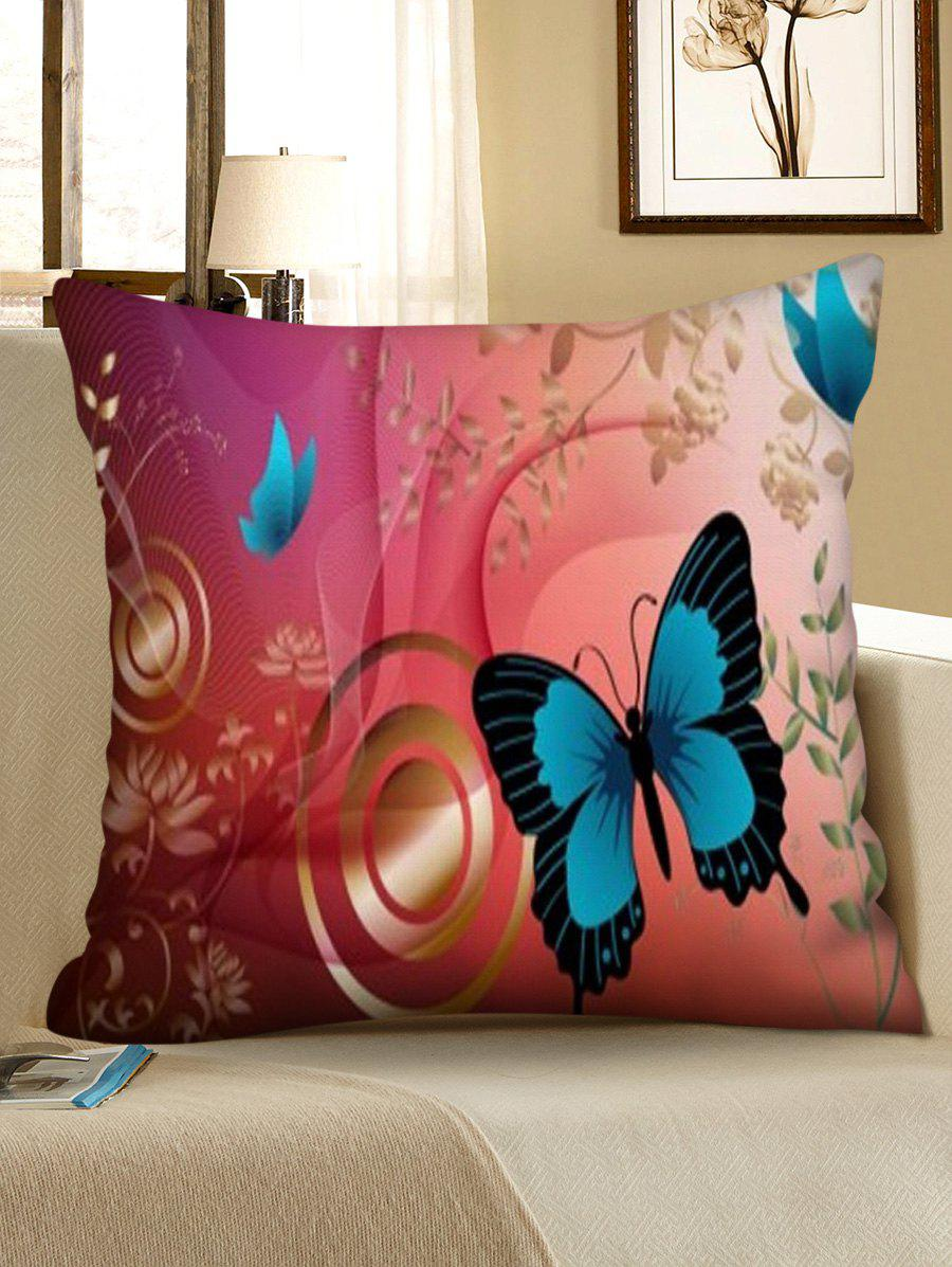 Online Print Butterfly Square Sofa Pillowcase