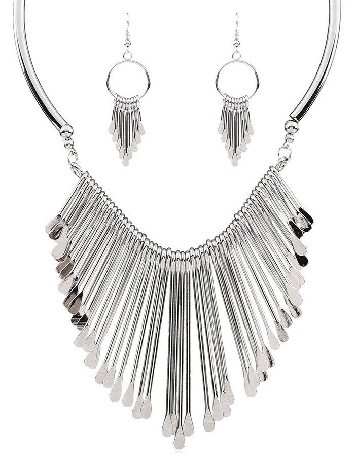 Affordable Alloy Fringed Necklace and Earrings