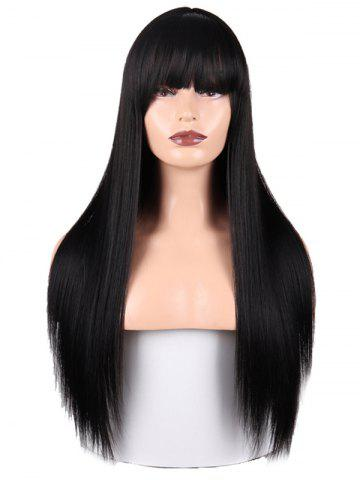 Full Fringe Long Straight Synthetic Wig
