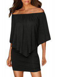 Off The Shoulder Popover Bodycon Dress -