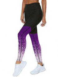 Printed Panel Skinny Leggings -